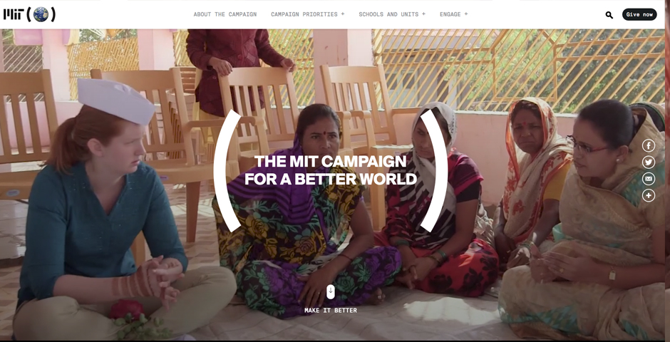 Honoree - MIT Campaign for a Better World Website